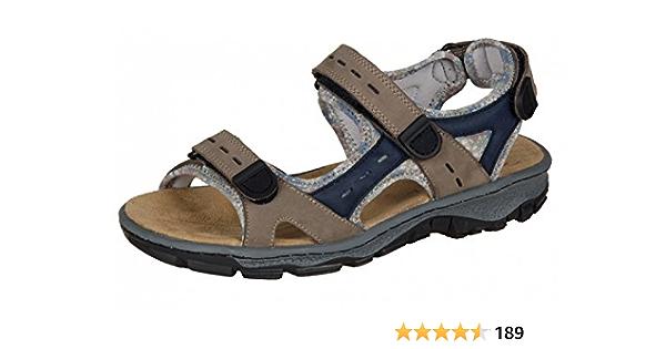 Ladies Rieker 68872 Beige Nubuck Triple Strap Trekking//Hiking Sports Sandals