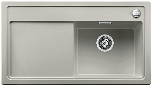 Blanco ZENAR 5 S, Küchenspüle, Granitspüle aus Silgranit PuraDur inklusiv Glasschneidbrett, 1 Stück, perlgrau, 520438
