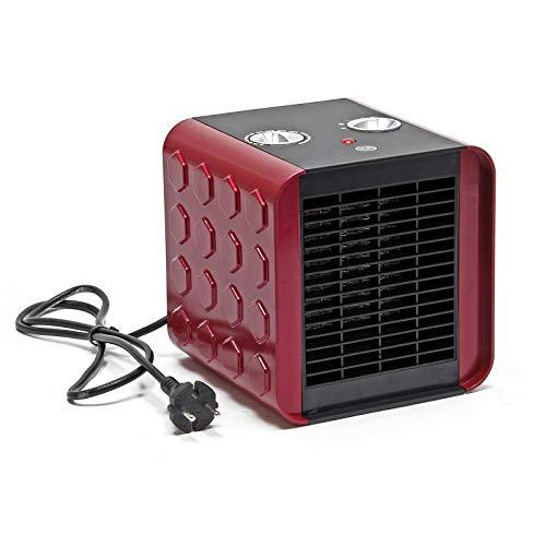 Calefactor cerámico 1500W Cubo Aire caliente frío Termoventilador Calentador Ventilador Camping