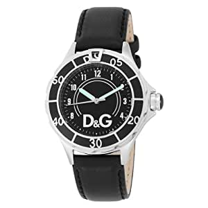 D&G Dolce&Gabbana Herren-Armbanduhr NEW ANCHOR BLACK DIAL BLACK STRAP CASE SS W/BLA DW0509