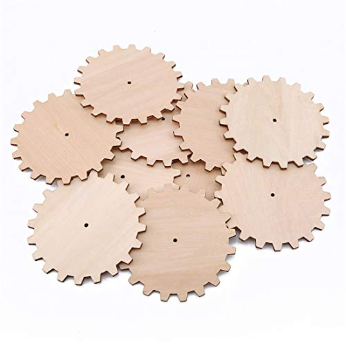ished Holz Gang Puzzle Handgezeichnete Doodle Zubehör für Brettspiel Stücke Kunsthandwerk Projekte Ornamente(Durchmesser10cm) ()