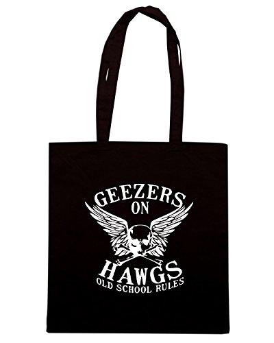 T-Shirtshock - Borsa Shopping TB0125 geezers on hawgs Nero