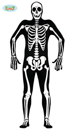Skelett Kostüm für Erwachsene Gr. M/L, Größe:L