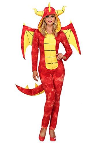 Dazzling Dragon Women's Fancy dress costume X-Large (Dragon Lady Red Kostüme)