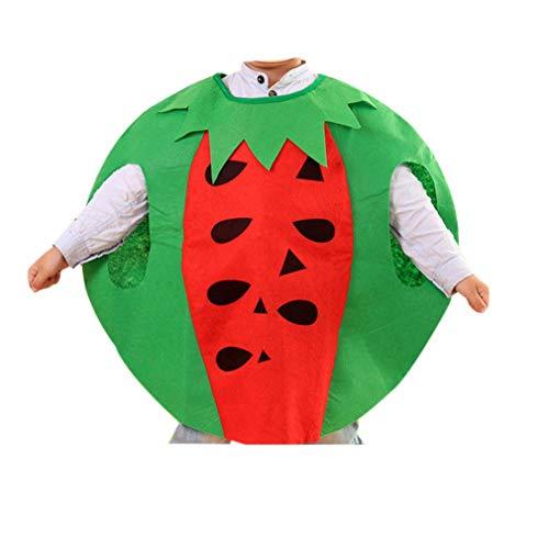 zhruiqun Kids Fruits Halloween Outfits Kind Leicht Party Kostüme Mädchen Fancy Kleid (Wassermelone)