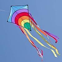 CIM Cometa - Rainbow Eddy Blue - por niños con Edad a Partir de 3 años - 65x74cm - Cordón y Cola de la Cometa incluidos