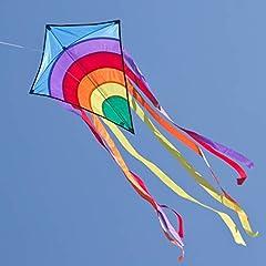 Idea Regalo - CIM Aquilone - Rainbow Eddy BLUE - per etá superiore ai 3 anni - Dimensioni: 65x74cm - incl. filo e coda
