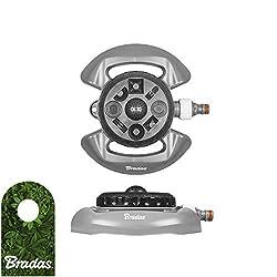 Bradas WL-Z15 WhiteLine 8-Funktionen Rasensprenger Sprinkler Regner Bewässerung, grau, 10 x 10 x 5 cm