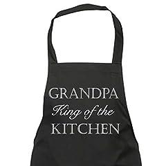 Idea Regalo - nonno King of the cucina nera grembiule regalo novità chef cucina Regalo festa del papà