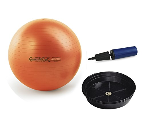 Pezziball Maxafe Set + Ballschale +Handpumpe (orange, 65 cm)