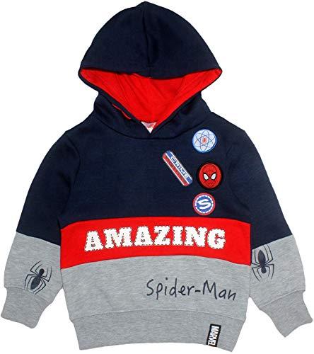 Marvel Spiderman Kinder Jungen Amazing Pullover Hoodie Sweatshirt Blau 2-3 Jahre