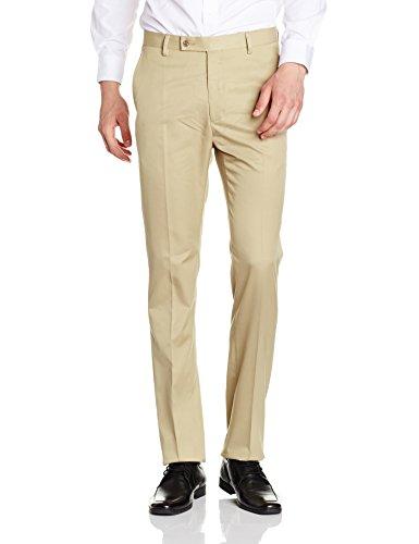 Arrow Men's Formal Trousers (8907538114228_ATTF2039_36W x 36L_Khaki)