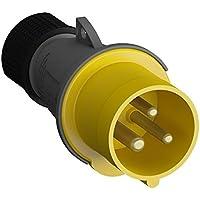 ABB 216EP4 IP44 2P+E - Tapón recto, termoplástico, color amarillo