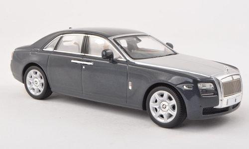 rolls-royce-ghost-met-dkl-grau-silber-rhd-2009-modellauto-fertigmodell-ixo-143