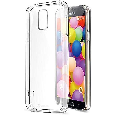 CoolReall -Funda Galaxy S5 Choque Absorción TPU Parachoques[Conviviente tapón antipolvo] para Samsung Galaxy S5[Crystal Clear]