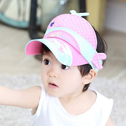 Mädchen Ska Kostüm - mlpnko Binaurale Kaninchen leeren Hut Kinder Hut Neue Kindermaske Baby Hut Sonnencreme rosa 48-50cm geeignet für 2-4 Jahre alt
