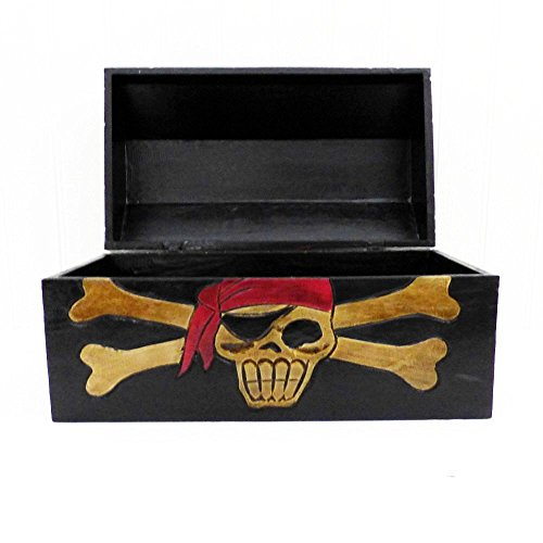 Große Piraten Schatztruhe - Ideale Geschenk Verpackung Oder Als (Dekor Piraten)