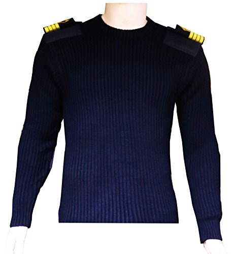 Generic Nautical Sweater with epaulets flaps and extra knee padding for marine officers-size 42