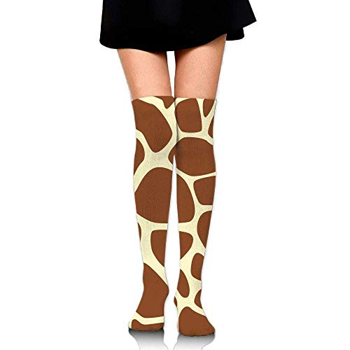 No Soy Como Tu Hohe Socken Giraffe Print Pattern Training Socks Crew Athletic Socks Long Sport Soccer Socks Soft Knee High Sock Compression Socks for Men Women -