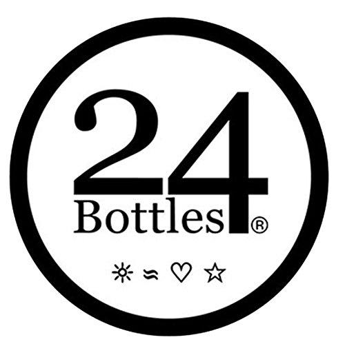 24Bottles Flaschenhalter für Edelstahl Trinkflasche- Canvas Baumwolle Fahrradhalter 500ml, Schwarz mehrfarbig