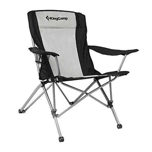KingCamp Campingstuhl Angelstuhl Klappstuhl mit integriertem Getränkehalter und ergonomischer Rückenlehne