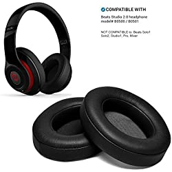 Coussinets de Remplacement, WADEO Beats Studio 2/2.0/3 / 3.0 Coussinets de Rechange Wired/Wireless B0500 B0501 Noir Oreillette Mousse Coussin