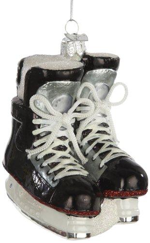 Noble Gems Kurt Adler Eishockey-Schlittschuhe, Christbaumschmuck aus Glas (10,80 cm) -