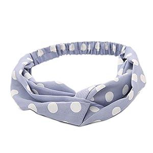 JSEA Frauentuch Elastisches Haarband Criss Kreuz verknotet Punkt Haarbänder Stirnband Mädchen