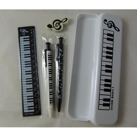 Musica a tema bianco Pencil Case Stationery