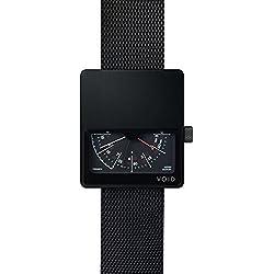 Void V02MKII-BL/MB Men's Analog Black Mesh Bracelet Band Black Dial Watch