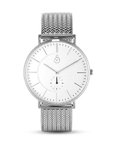 Signor VALMANO Herren Uhr Analog Quarz mit Edelstahl Armband VAL1005