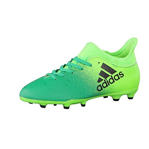 Adidas X 16.3FG J-Stiefel fútbolpara Kinder, Grün–(Versol/negbas/Vol), 4