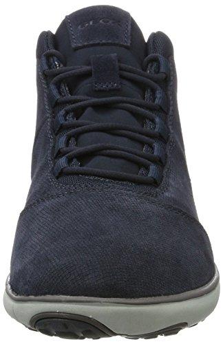 Geox U Nebula A, Sneakers Hautes Homme Bleu (Navy)