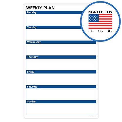 321done Planung Pads, hergestellt in den USA, 50Blatt (14x 21,6cm), Planer Organisation Tracking, Abreißen Notizblock B2 - Days of Week D - Block, Dark Blue