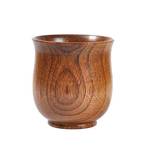 Berrose Holz Tasse hölzerne Schalen-Protokoll-Farbe handgemachte natürliche Kaffee-Tee-Biersaft-Milch-Becher Holzbecher Dekorationsbecher Trinkbecher Kaffeebecher Milchbecher