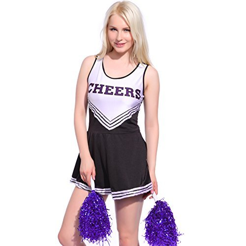 Cheerleader Costume Minigonna Fiori da mano Fancy Dress High School