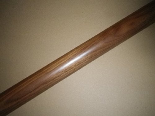 verschiedene L/ängen 080cm 2 Edelstahl-Halter Handlauf Eiche /Ø42mm mit Edelstahlhalter und leicht gew/ölbter Edelstahlendkappen