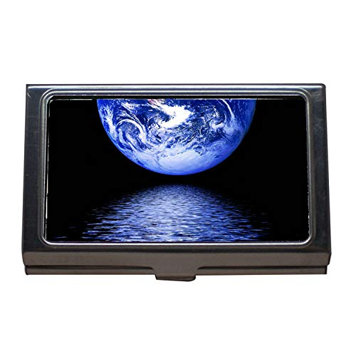 Visitenkartenhalter, in Office-Produkten, Banner Header Universe Star Earth Globe Space, Visitenkartenetui aus Edelstahl
