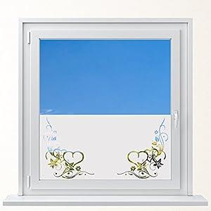 DD Dotzler Design 6416-10 individuelle Sichtschutzfolie Fensterfolie Milchglas Verzierung Herz Ornament Ranke