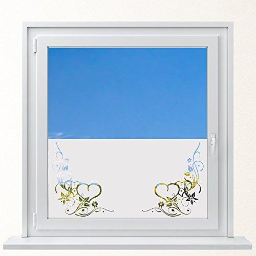 DD Dotzler Design 6416-10 individuelle Sichtschutzfolie Fensterfolie Milchglas Verzierung Herz Ornament Ranke -