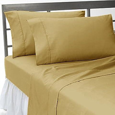 Almohada -2PC Italiano de acabado de 600hilos beige color sólido almohada de cuerpo entero Tamaño (32