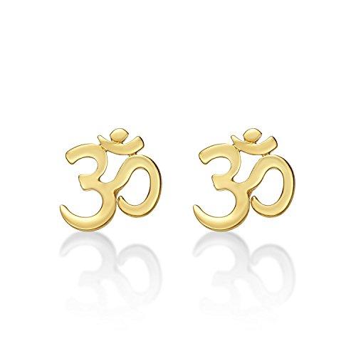 rringe gold, rose gold oder silber Ohrstecker aus 925 Sterling Silber. Damen Frauen Mädchen Ohrringe vergoldet oder rhodiniert. Ohrringe mit Schmetterlingverschluss verfügbar. ()