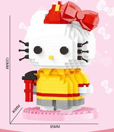 XIONGXI Laden und Einfügen von Spielzeug DIY süße Katze dreidimensionales Puzzle pädagogisches Geschenk