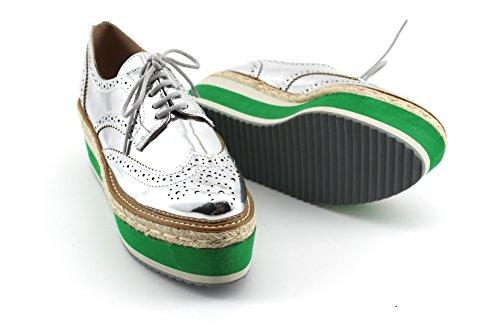 MODELISA , Chaussures de ville à lacets pour femme Argent