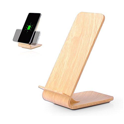 Rokoo Wireless Ladegerät 10W Leistungsstarke Schnellladestation Charged Holz für Samsung Galaxy S6 Edge Plus Hinweis 5 S8 S8 Plus