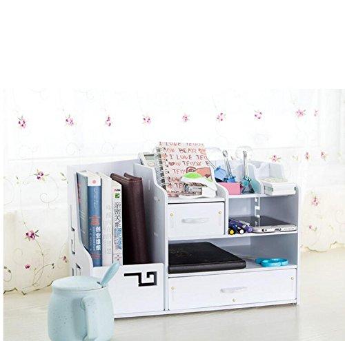 ASL Büro Schreibtisch Desktop Debris Aufbewahrungsbox Finishing Boxen Storage Regal Regal Qualität ( Farbe : Weiß ) -