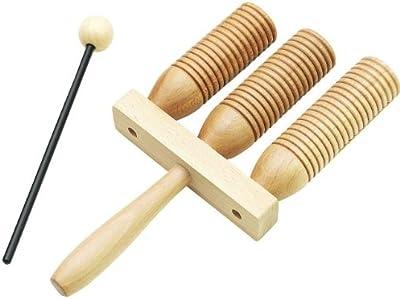 Rohema 61550 Wooden AGOGO - 3-Tone Agogo