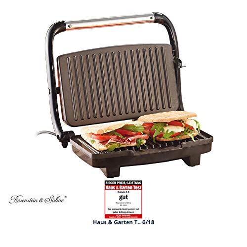 Rosenstein & Söhne Sandwichtoaster: Panini-, Sandwich- & Kontaktgrill CG-2510, 1.000 W (Panini Grill)
