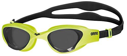 arena Unisex Training Freizeit Schwimmbrille The One (UV-Schutz, Anti-Fog Beschichtung, Harte Gläser), Smoke-Lime-Black (565), One Size (Lime Gläser Green)