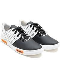 Zixer Black & White Casual Shoes For Men